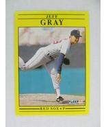 Jeff Gray Boston Red Sox 1991 Fleer Baseball Card 95 - $0.98
