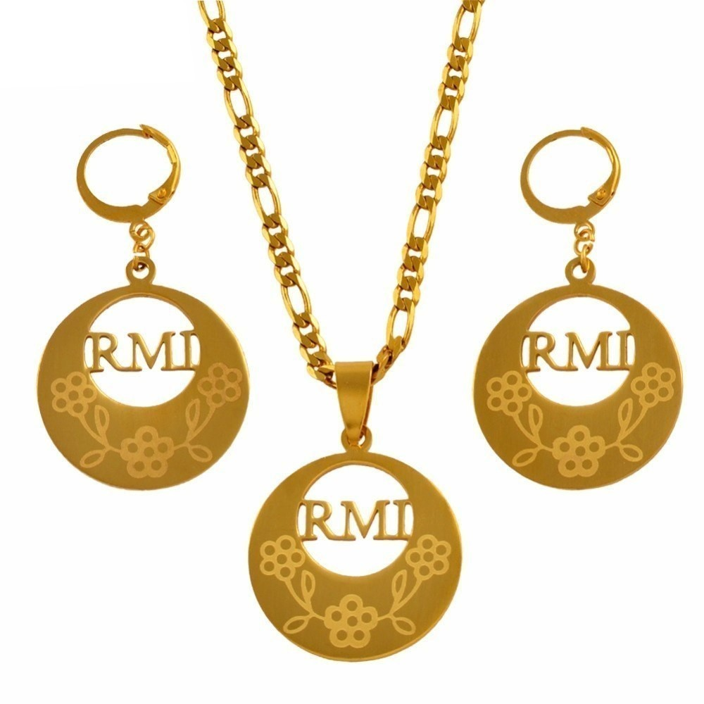 Primary image for RMI Pendant Necklaces and Earrings for Women Gold Color Stainless