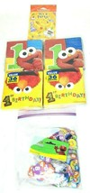 Sesame Street 1st Birthday Party 6 Pc Lot Napkins Confetti Invitations Elmo - $24.98