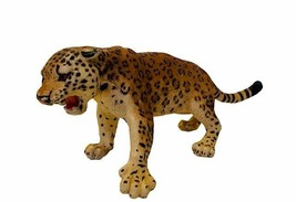 Safari Jaguar Cheetah Leopard Cat plastic rubber animal figure toy 1998 ... - $38.65