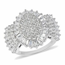 Lustro Stella Premium Cubic Zirconia Ring in Sterling Silver (Size 5.0) ... - $44.55