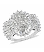 Lustro Stella Premium Cubic Zirconia Ring in Sterling Silver (Size 5.0) 3.56 ctw - $44.55
