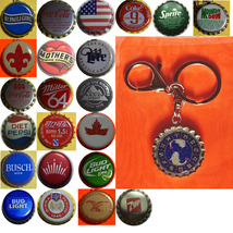 Constellation Pisces Fish icon Coke Sprite pepsi & more Soda beer cap Keychain image 1
