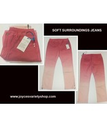 Soft Surroundings Pink Fade Jeans NWT Sz XS Zipper Legs - $21.99