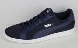Puma men's fashion sneaker navy blue leather low top fabric size 8 - $29.52