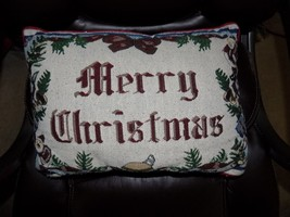 Xmas Merry Christmas Pillow EUC - $15.80