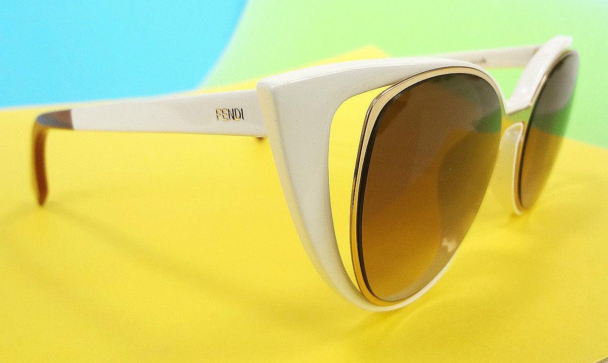 84ef4ced827e Fendi Women s Sunglasses FF0136 S Gold Ivory and 49 similar items. S l1600