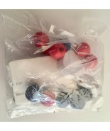 Red and Blue Snowman Bracelet Kit, Child's Bracelet, Beading, Crafting, ... - $6.50