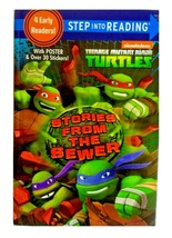 Teenage Mutant Ninja Turtles 4 Early Reader Books With Poster Stickers H... - $13.76