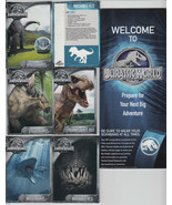 2015 SAMSUNG JURASSIC WORLD PARK PROMO CARD SET OF 8 WITH MAP DINOSAURS ... - $16.82