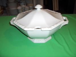 Vintage Rosenthal China Large Soup Tureen  Maria White  Classic Rose NICE - $113.85