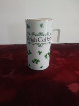 Vintage Lefton China Irish Coffee Tea Cup Clover Shamrock Hand Painted - $16.82