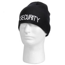 Rothco Embroidered Security Guard Officer Black Acrylic Skull Winter Cap... - $7.91