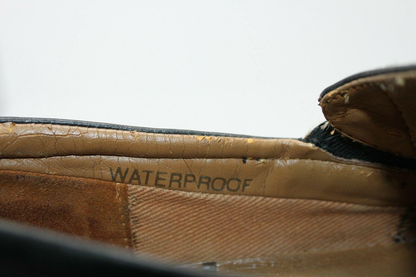 Timberland Size 9 M Men Waterproof Black Leather Slip-On Loafers Smart Comfort