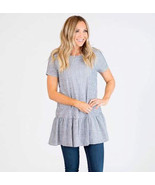 Women's Sweet Claire Denim Striped Tunic Small - $10.00