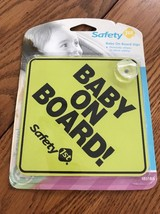 SAFETY 1ST BABY ON BOARD CAR WINDOW SIGN YELLOW Ships N 24h - $6.77