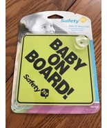 SAFETY 1ST BABY ON BOARD CAR WINDOW SIGN YELLOW Ships N 24h - $6.91