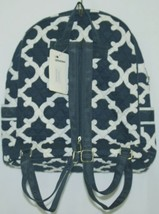 NGIL OTG2828NY Color Navy and White Quilted Microfiber Backpack Geometric Design image 2
