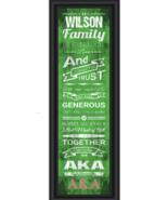 Personalized Greek-Alpha Kappa Alpha Sorority- 24 x 8 Family Cheer Frame... - $39.95