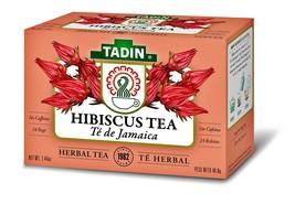 Tadin Hibiscus Herbal Tea Te de Jamaica Caffeine Free (24 Tea Bags Box) 2 Boxes - $14.80