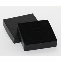 "(1) Black Paper Chipboard Model ""I"" Air-Tite Single Coin Holder Display Box - $6.95"