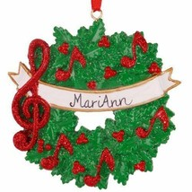 Music Personalized Christmas Tree Ornament - $14.95