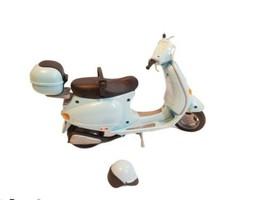 Barbie Mattel 2002 VESPA SCOOTER +Helmet, Storage, Seatbelt, Kickstand b... - $59.39