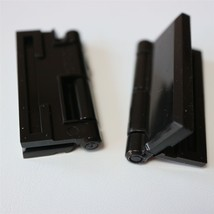 2 x Acrylic Hinges - 45mm x 38mm pair of BLACK Hinges, Continuous Piano ... - $13.29