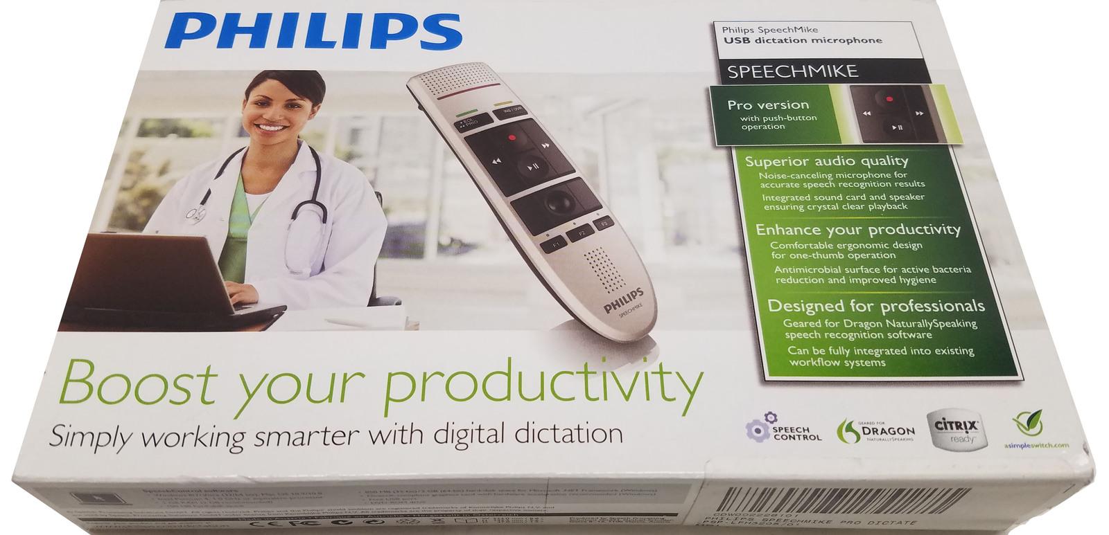 Philips SpeechMike III Pro USB Dictation Microphone LFH3205 (NEW) Bin: 12