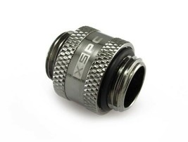 "XSPC G1/4"" Male to Male Rotary Fitting - Black Chrome Finish - $7.87"