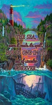 Sunset Cove, The Ocean Calls to Us, Seawater, Sea Metal Sign by Will Cor... - $49.95