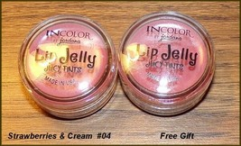 2 x Jordana InColor Lip Jelly Juicy Tints  #04 Strawberries & Cream   FR... - $5.95