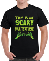 Custom Personalized Halloween T shirt This Is My Scary Costume Men's T s... - $18.00+