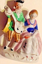 Figurine Victorian Man Seranading Woman Hand Painted Porcelain Vintage J... - $11.23