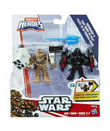 Star Wars Galactic Heroes Chewbacca & First Order TIE Pilot Hasbro Sealed - $23.49
