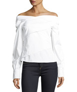 Theory Women's Wrapped Top, White, Petite MSRP $265 - $188.09