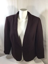 INC Women Purple Blazer Jacket Clip On Little Dirty Polyester Size X large - $15.90