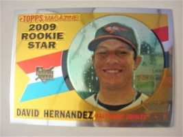 2009 Topps Heritage Chrome Baseball Card #CHR183 David Hernandez-ex/mt  - $4.50