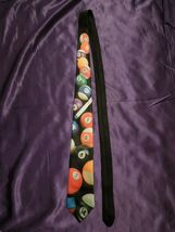 Vintage 1991 Ralph Marlin Random Billiard Pool Balls Neck Tie image 4