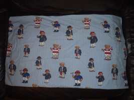 2 Standard Pillowcases Vintage Ralph Lauren Polo Teddy Bear  - $55.81