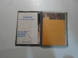 1995 Volvo Owners Manuell Schutzhülle Garantie Information Händler Verzeichnis image 2