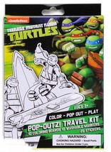 Ninja Turtles Pop-Outz Travel Kit Coloring Art Set with over 40 pieces F... - $4.99