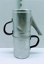Vintage Camping Aluminum  Stovetop Coffee Tea Pot Stackable - $7.35