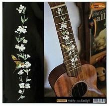 Ukulele-Soprano Markers Inlay Sticker Decal Tree of Life w/Hummingbird - $17.75