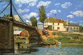 The Bridge at Villeneuve-la-Garenne by Alfred Sisley - Art Print - $19.99+