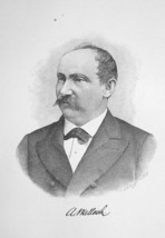 ANTHONY WALLACH Hungary Born New York Banker & Capitalist - 1895 Portrai... - $8.82