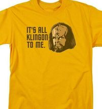 Star Trek T-shirt Free Shipping Worf It's All Klingon To Me cotton tee CBS1183 image 3
