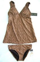 NWT Anne Cole Collection Sexy Copper Shine Halter Tankini Swim Suit XS $148 - $26.99