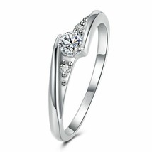 18K White Gold Plated  Swarovski Elements Curved Ring - $15.20