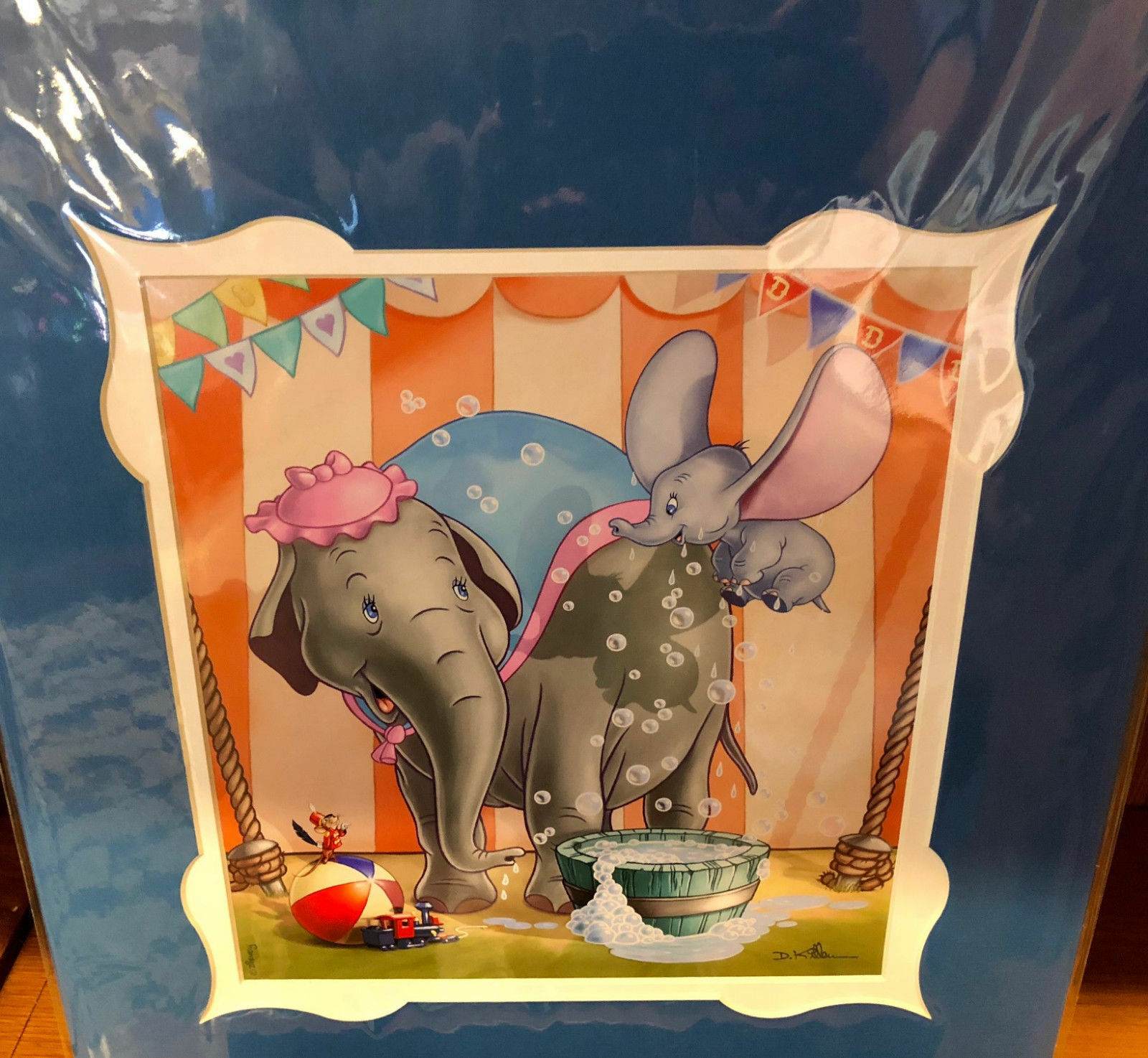Disney Parks Dumbo Defying Self Drying Deluxe Print by Daniel Killen New
